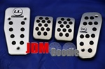 I.L. NA Foot Pedal set aluminium complete 4 pieces