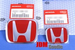 Honda 06+ Civic Coupe Red H Emblem Set